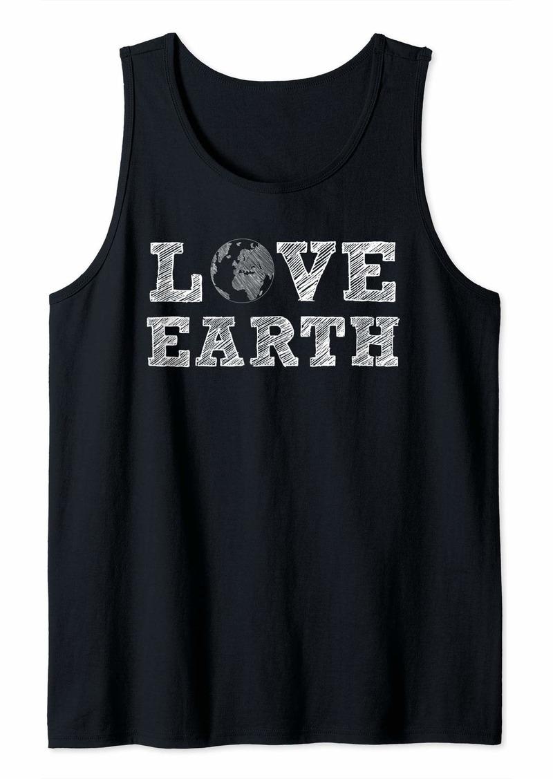 Earth Day - Love Earth Globe Tank Top