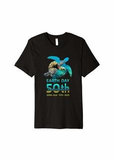 Earth Day 50th Anniversary Sea Turtle Silhouette Premium T-Shirt