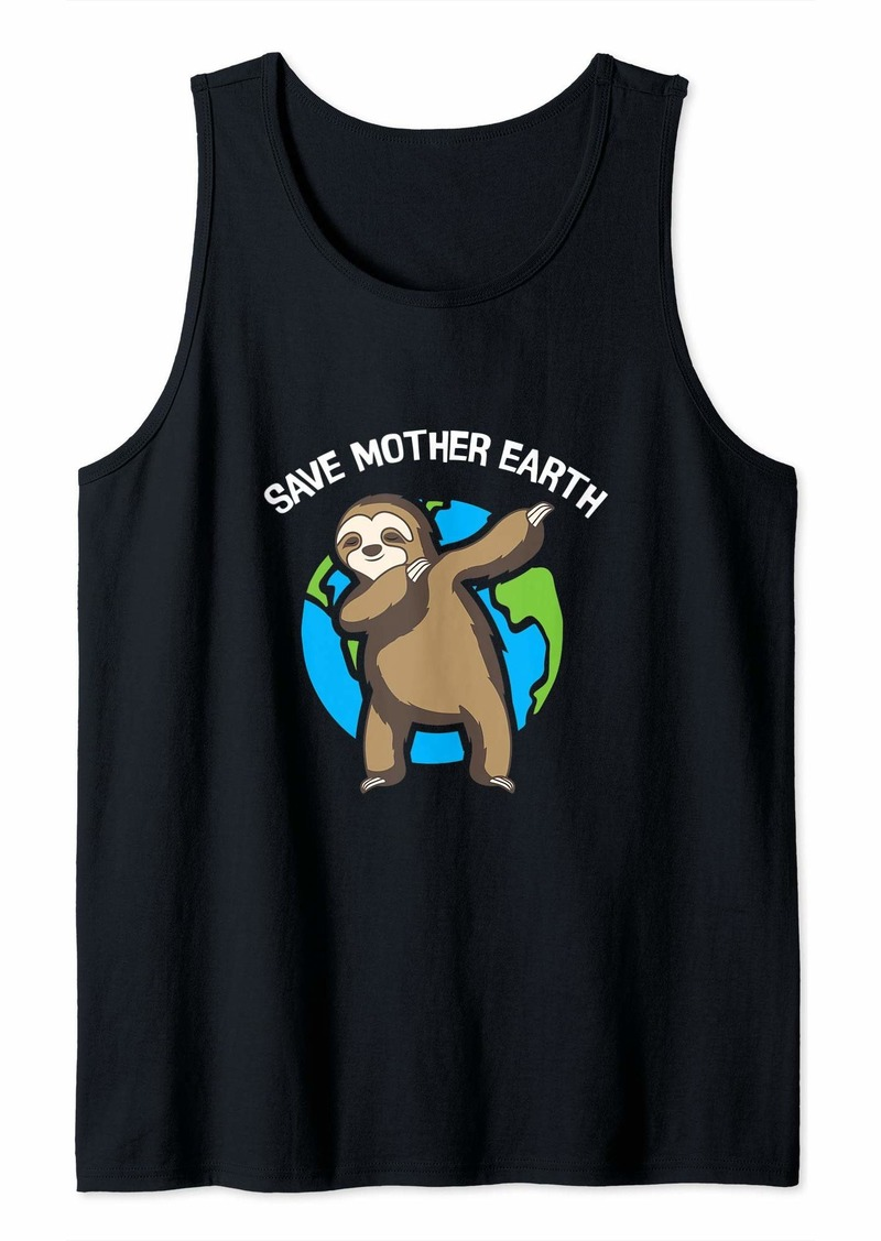 Earth Day Gift Dabbing Sloth Save Mother Earth Tank Top