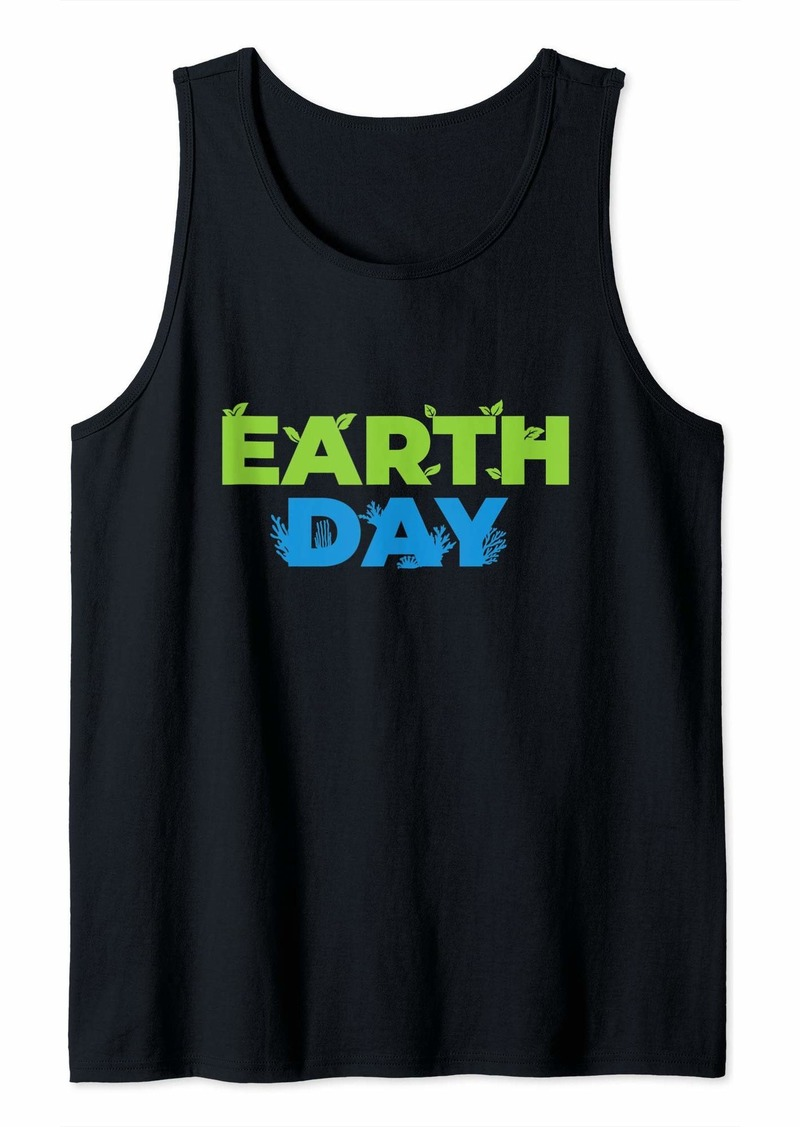 Earth Day Gift Leaves And Corals Tank Top