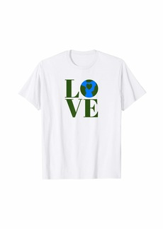 Earth Day T Shirts Love Planet Earth Heart Art Shirt