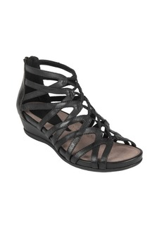 Earth Juno Leather Cage Sandals