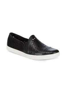 Earth Tayberry Perforated Leather Sneakers