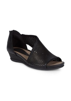 Earth Venus Perforated Leather Sandals