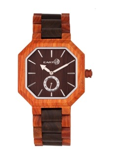 Earth Wood Acadia Wood Bracelet Watch Brown/Red 43Mm