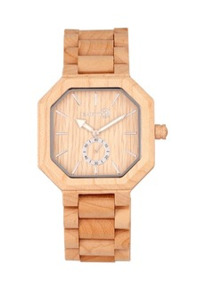 Earth Wood Acadia Wood Bracelet Watch Khaki 43Mm