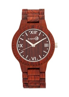Earth Wood Bighorn Wood Bracelet Watch Red 46Mm