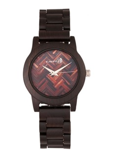 Earth Wood Crown Wood Bracelet Watch Brown 41Mm