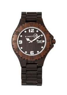 Earth Wood Raywood Wood Bracelet Watch W/Date Brown 47Mm