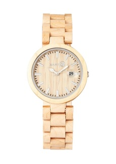 Earth Wood Stomates Wood Bracelet Watch W/Date Khaki 40Mm