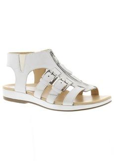 Earthies Womens Versailles White Gladiator Sandal -