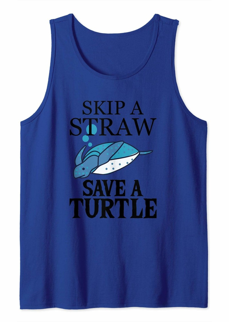 Earth Eco Friendly Clothing - Skip A Straw Save A Turtle Tank Top