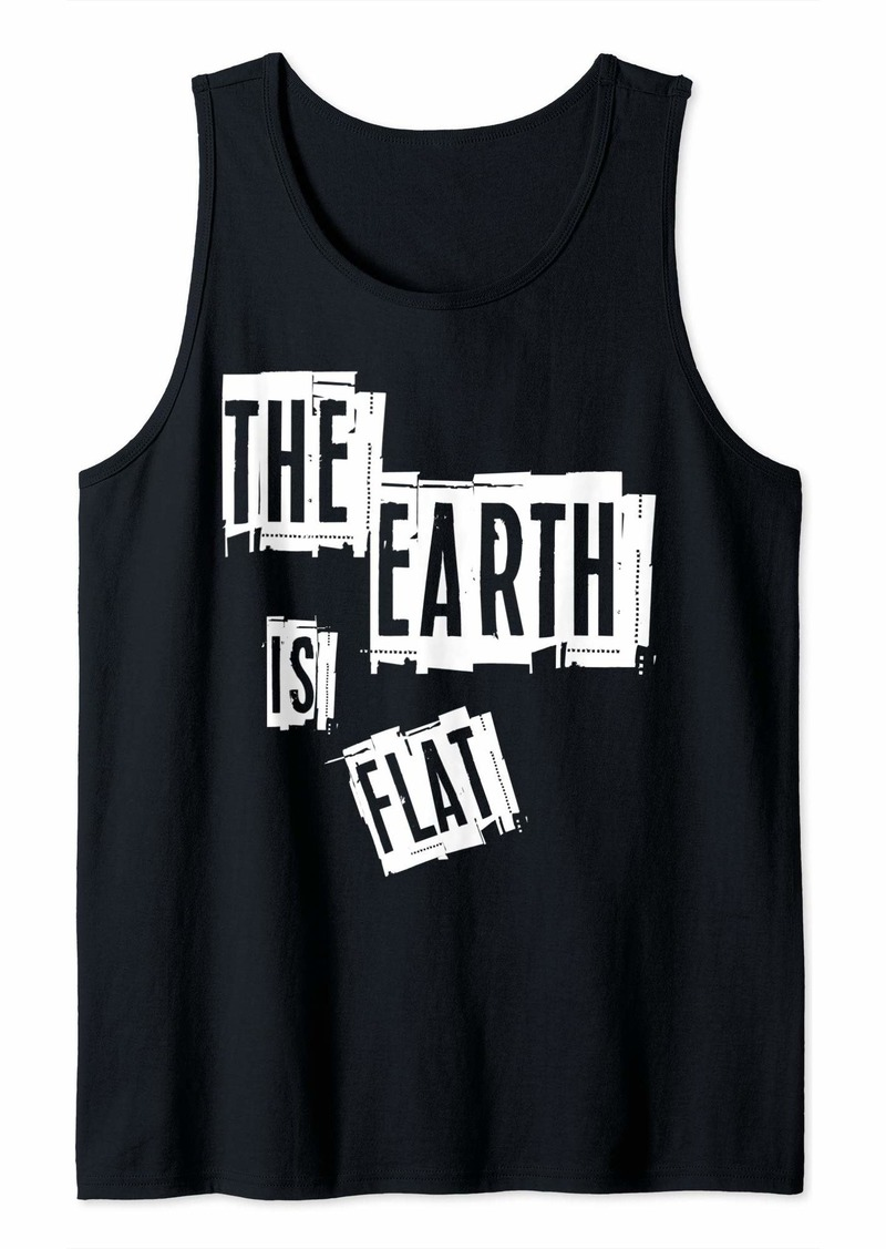 Flat planet t-shirt Flat earth t-shirt Flat earth Society Tank Top
