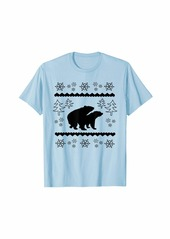 Earth Funny Black Mating Bears In The Forest Christmas Animal T-Shirt