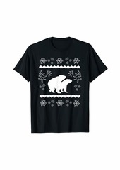 Earth Funny White Mating Bears In The Forest Christmas Animal T-Shirt