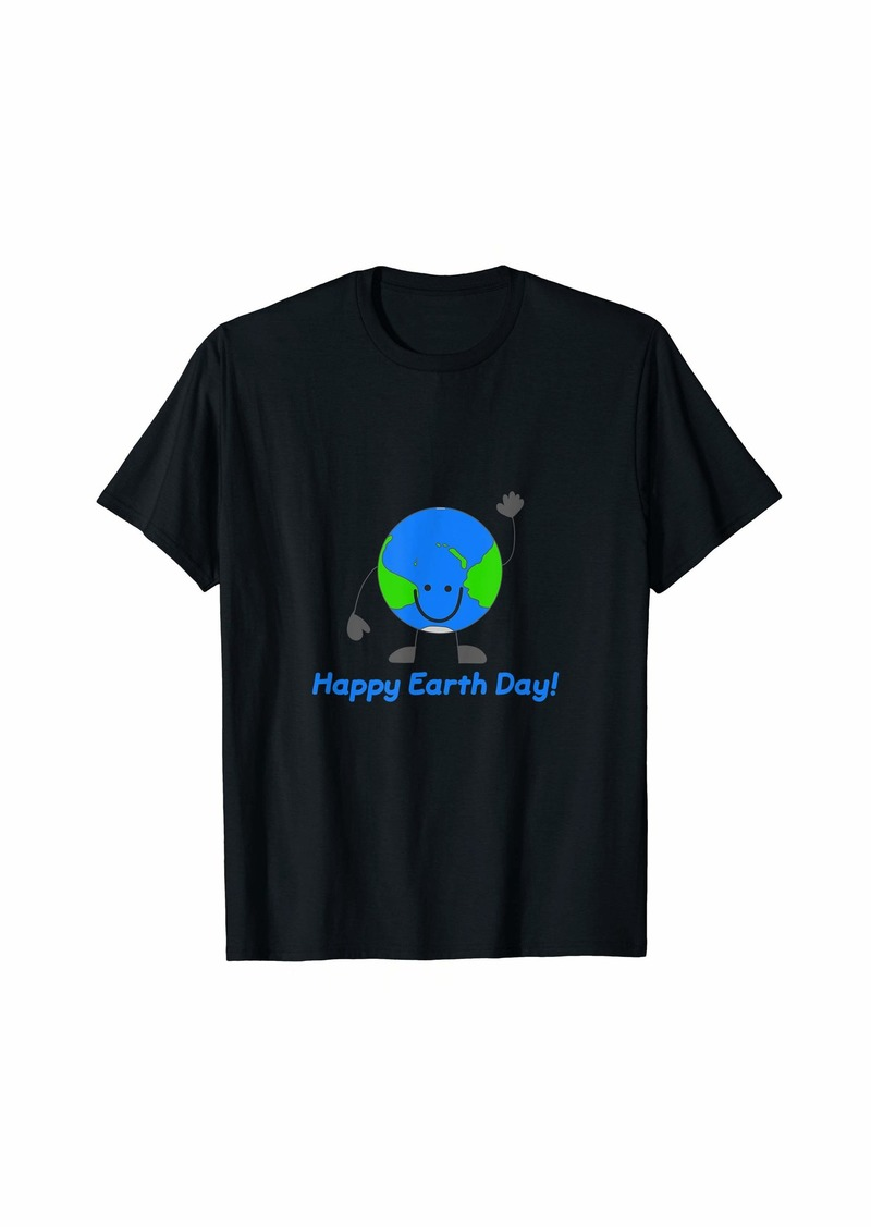Globe Emoticon Happy Earth Day Keep Earth Clean Lover Gift T-Shirt
