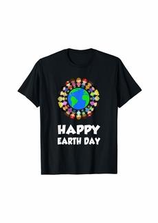 Happy Earth Day Children Around The World Cute Gift T-Shirt