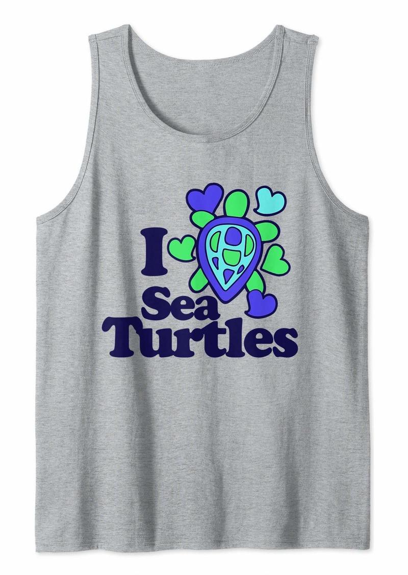 Earth I love sea turtles  Tank Top