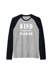 Earth Inspirational Quote In White Lettering Fun Casual Kindness Raglan Baseball Tee