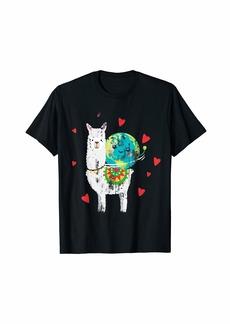 Llama Earth Day T-Shirt