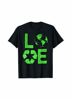 Love Earth Day 90s Planet Vintage Recycling Kids or Teacher T-Shirt