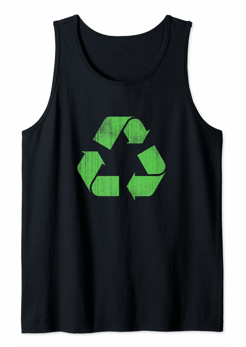 Recycle Sign Earth Day Cool  Tank Top