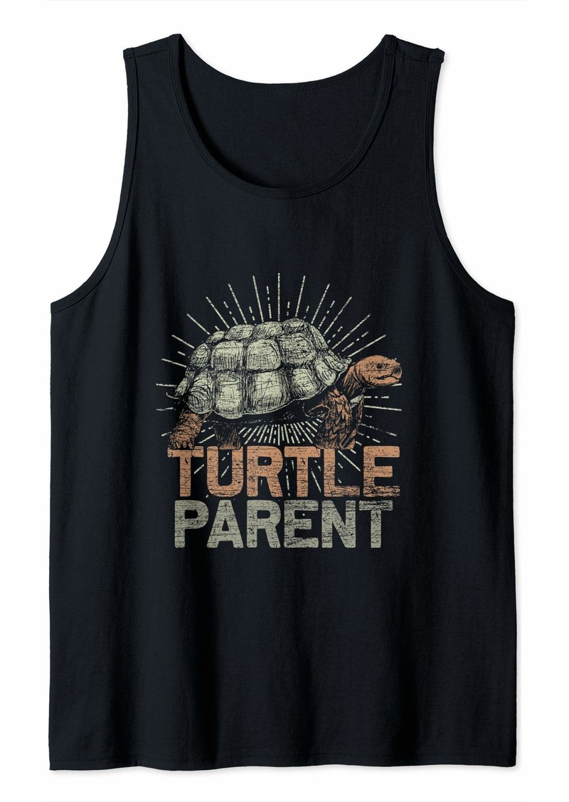 Earth Turtle Parent - Mom Dad Turtles - Vintage Turtle Tank Top