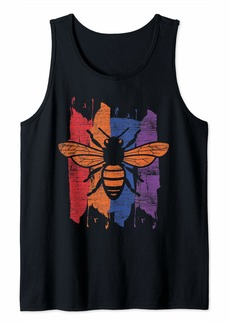 Vintage Beekeeper Save The Bees Climate Change Earth Day Bee Tank Top