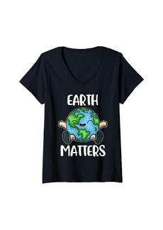 Womens Earth Matters V-Neck T-Shirt