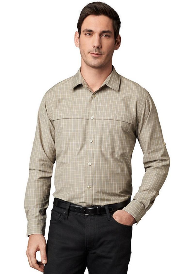 Sale van heusen van heusen shirt traveler long sleeve 2 for Van heusen plaid shirts