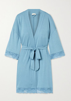 Eberjey Anouk Lace-trimmed Stretch-modal Robe
