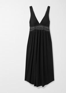 Eberjey Antoinette Uptown Lace-paneled Stretch-modal Nightdress