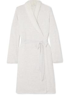 Eberjey Aspen Fleece-lined Modal-jersey Robe