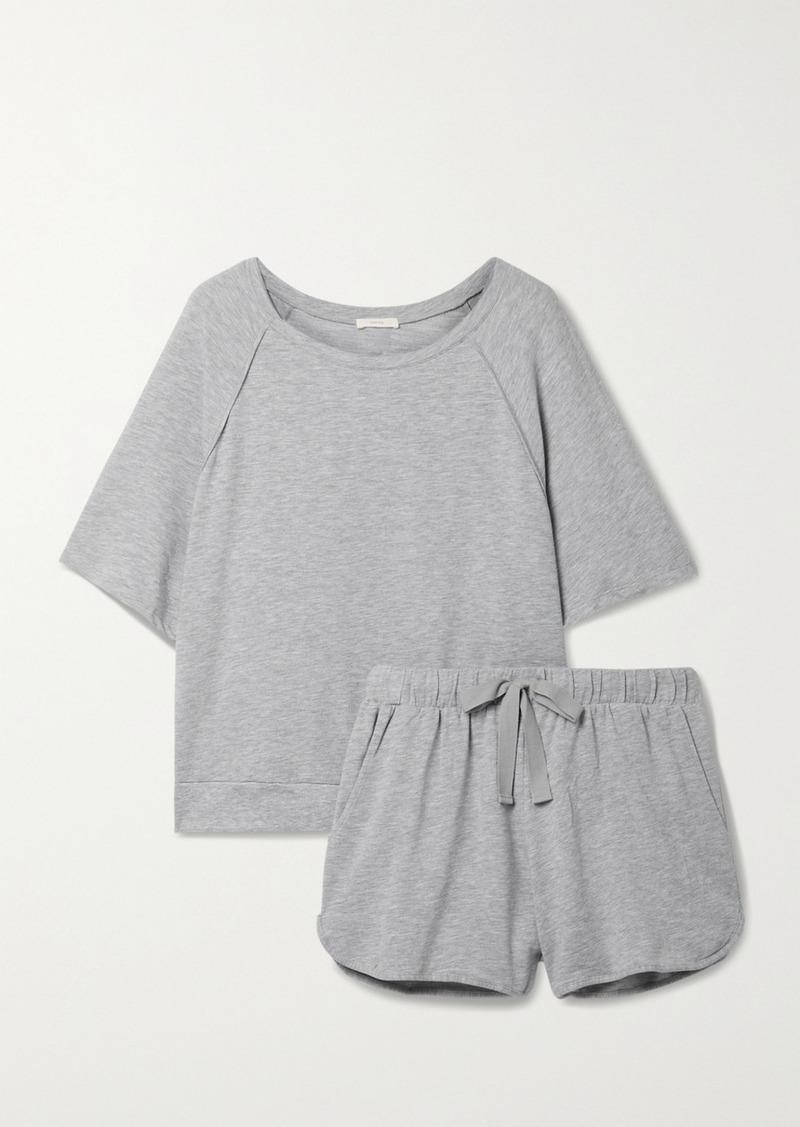 Eberjey Blair Mélange Stretch Pima Cotton And Modal-blend Pajama Set