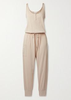 Eberjey Brie Cotton-jersey Jumpsuit