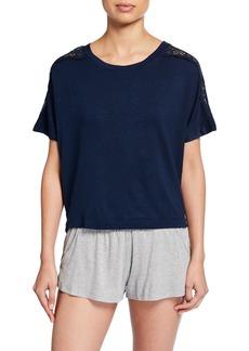 Eberjey Cara Short-Sleeve Pullover Top