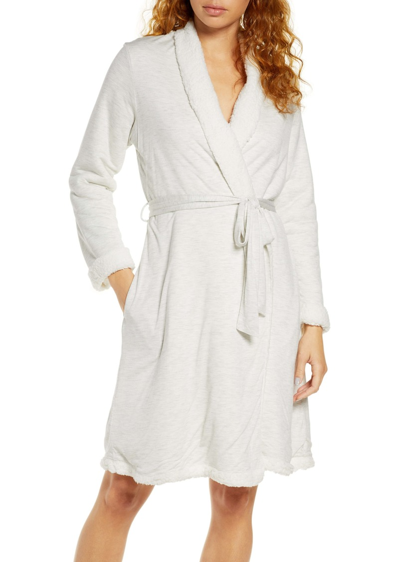 Eberjey Alpine Chic Faux Shearling Trim Robe