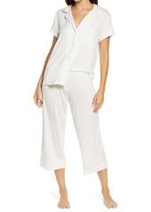 Eberjey Bloom Short Sleeve Crop Pajamas