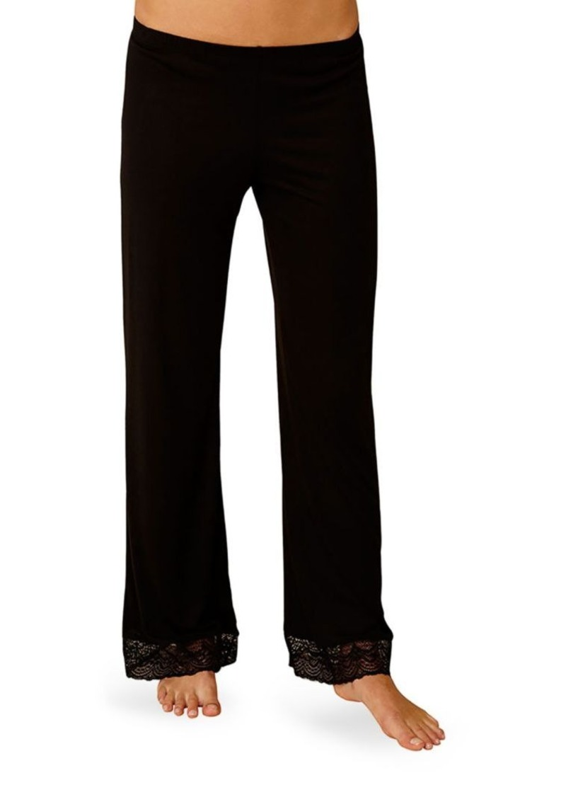 Eberjey Cecilia Lace Trimmed Pants