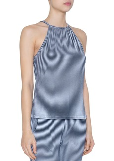 Eberjey Cotton Stripes Halter Top