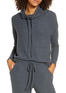 Eberjey Cozy Time Drawstring Funnel Neck Top