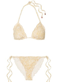 Eberjey Dakota Avalon ruffled printed triangle bikini