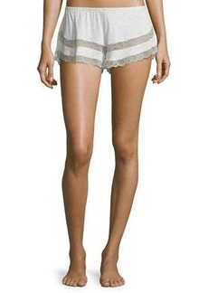 Eberjey Georgette Lace-Trim Shorts