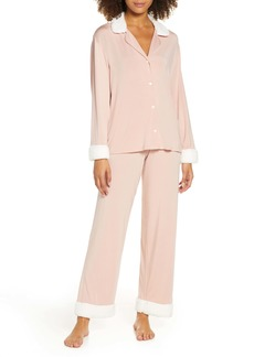 Eberjey Gisele Fleece Trim Pajamas