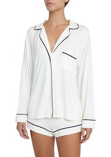 Eberjey Gisele Long-Sleeve Short Pajama Set