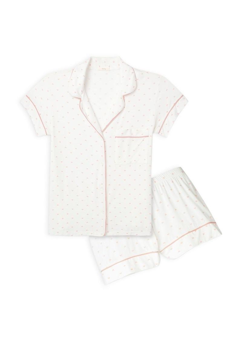 Eberjey Gisele Printed Shorts Pajama Set
