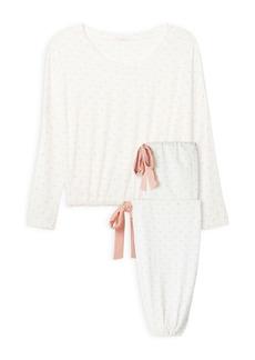 Eberjey Gisele Printed Slouch Pajama Set