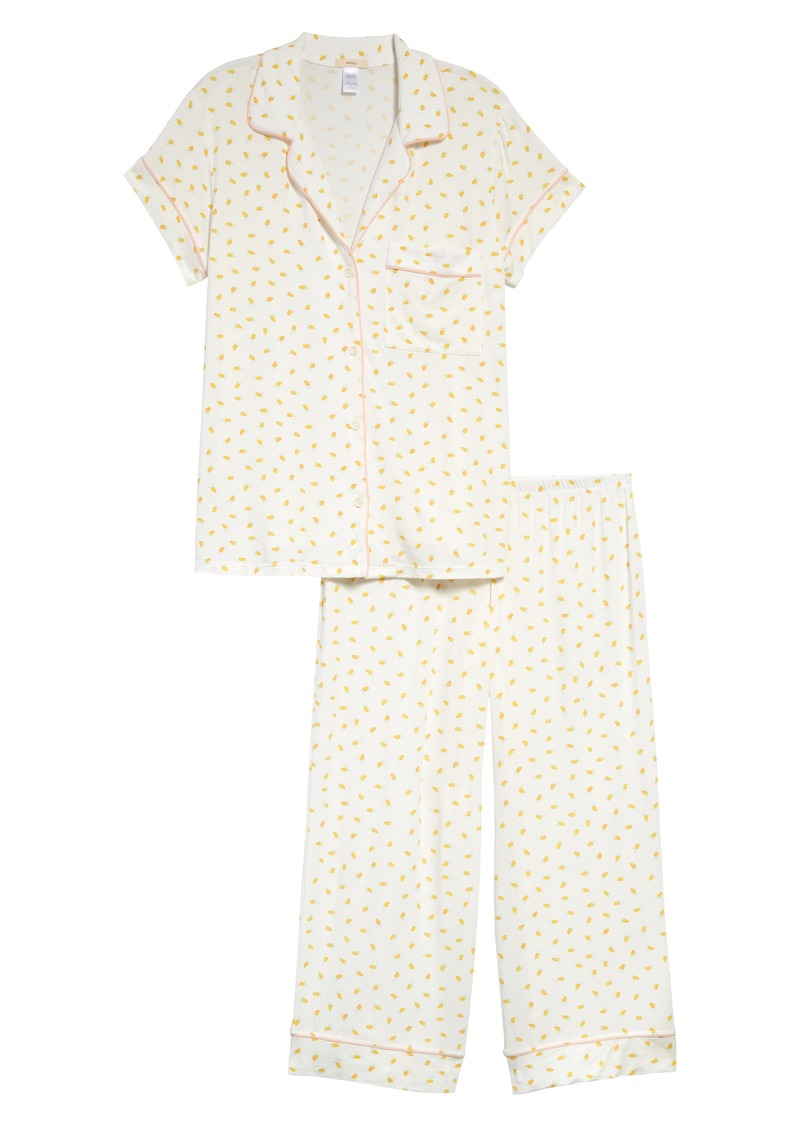 Eberjey Giving Print Cropped Pajamas