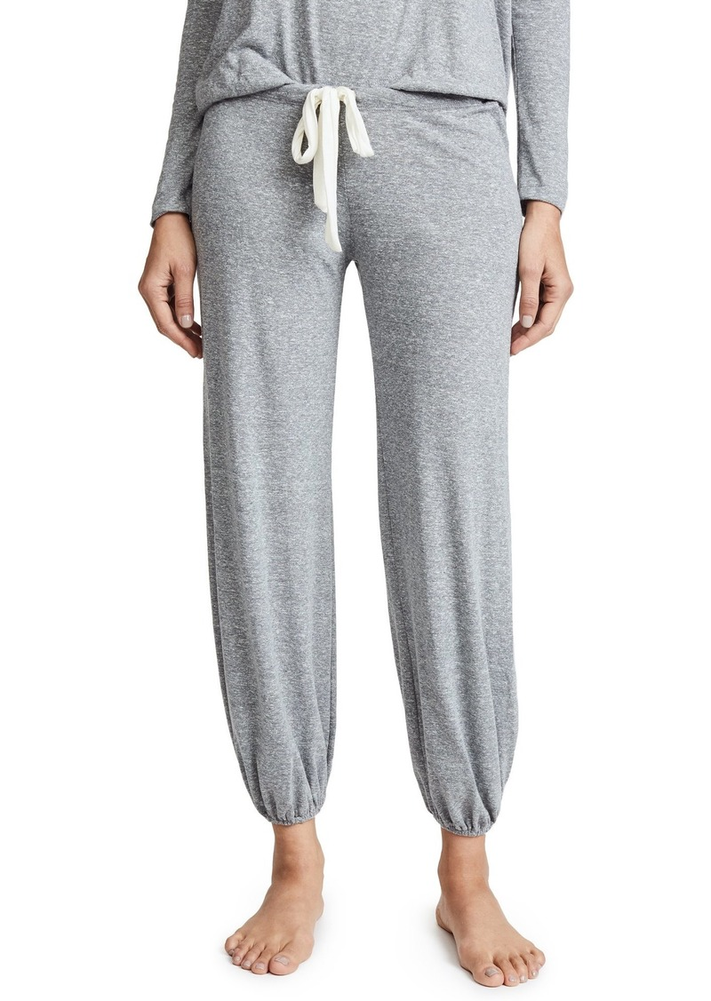 Eberjey Heather Cotton Slouchy Women's Pajama Jogger Pants | Adjustable Waist Tie + Elastic Ankle Cuffs