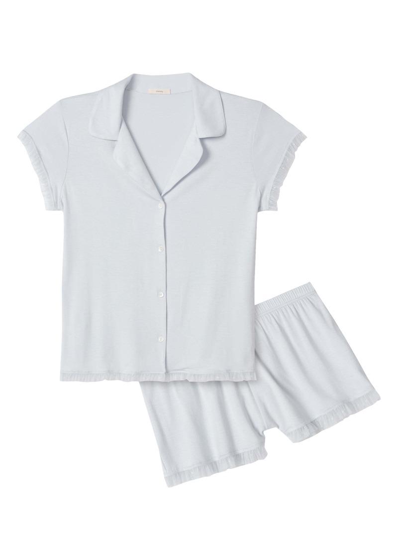 Eberjey Iona Ruffle Trim Pajamas